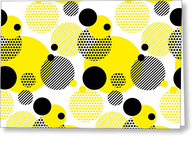 Seamless Dots Modern Pattern. White Greeting Card