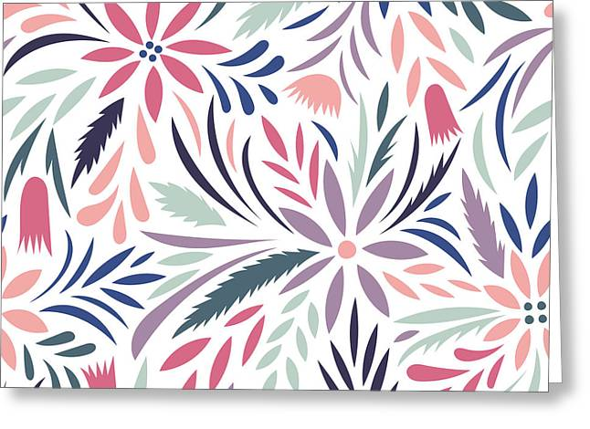 Seamless Floral Pattern. Vector Floral Greeting Card