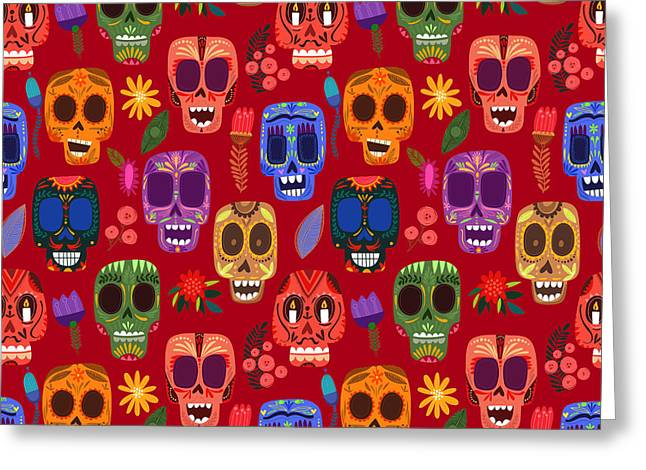 Seamless Pattern-mexican Day Of The Greeting Card