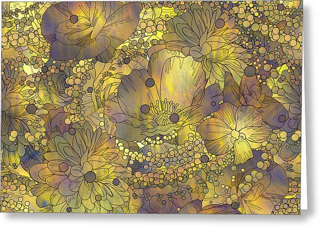Seamless Pattern Of Colorful Flowers Greeting Card