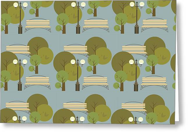 Seamless Pattern On The Theme Parks And Greeting Card by Marrishuanna