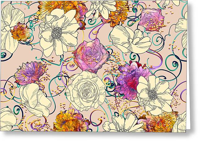 Seamless Pattern With Colorful Greeting Card