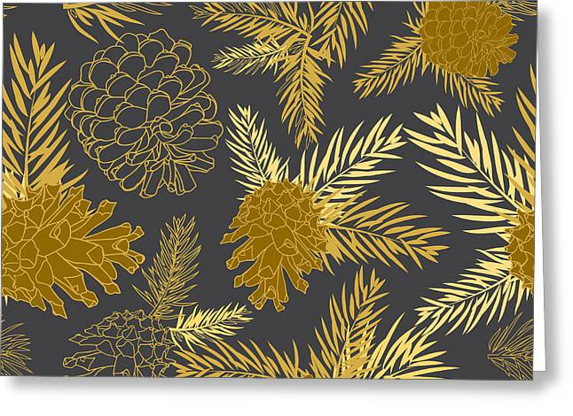Seamless Pattern With Fir-cone Greeting Card