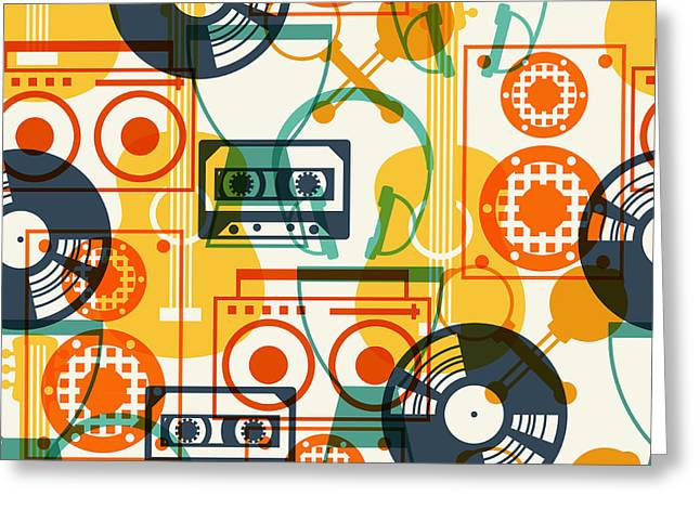 Seamless Pattern With Musical Greeting Card