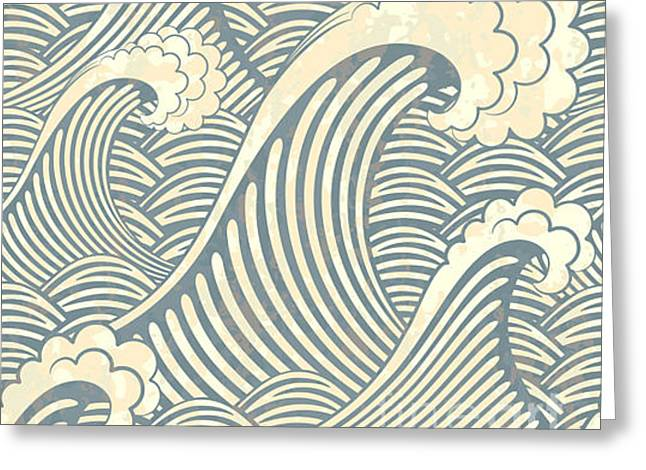 Seamless Pattern With Waves Greeting Card
