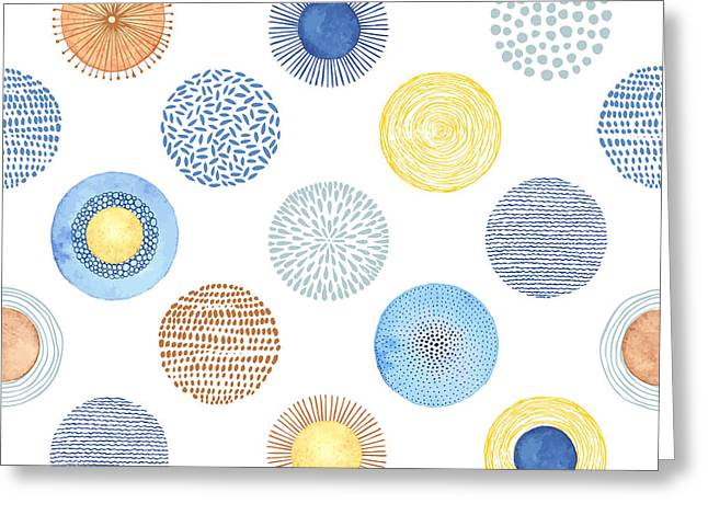 Seamless Summer Pattern With Hand-drawn Greeting Card by Nikiparonak
