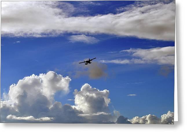 Seaplane Skyline Greeting Card