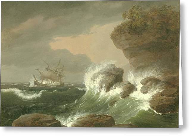 Seascape, 1835 Greeting Card
