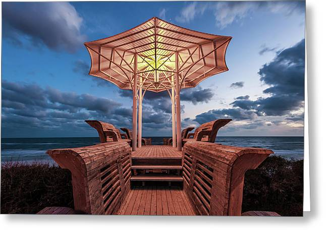 Seaside Pavilion On The Gulf Greeting Card