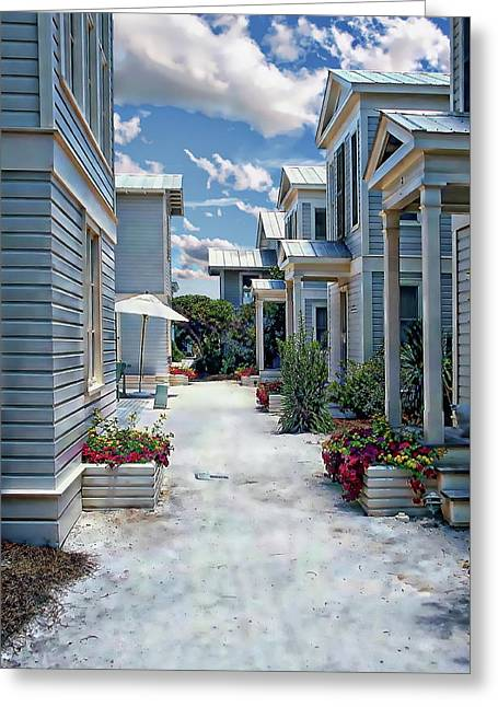 Greeting Card featuring the photograph Seaside Village by Anthony Dezenzio