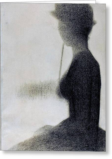 Seated Woman With A Parasol - Digital Remastered Edition Greeting Card