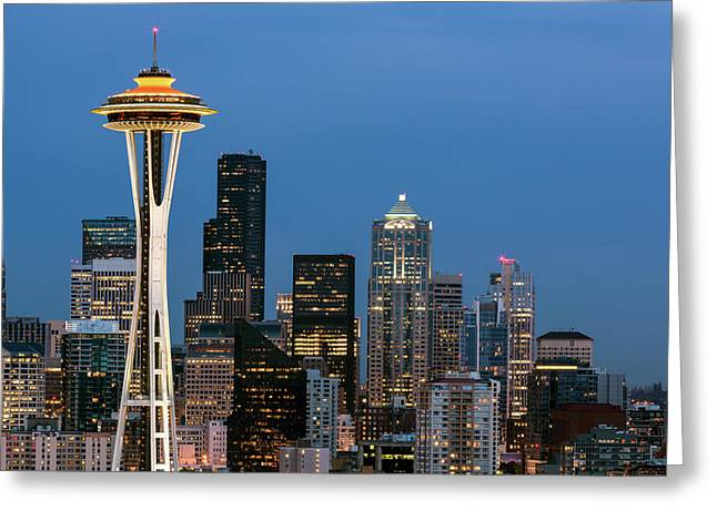 Greeting Card featuring the photograph Seattle Space Needle by Nicole Young