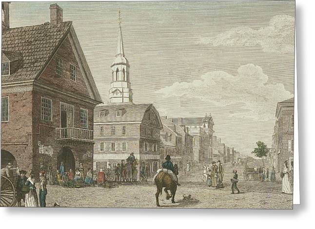 Second Street North From Market St. And Christ Church Greeting Card