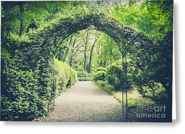 Secret Garden In Vintage Style Greeting Card