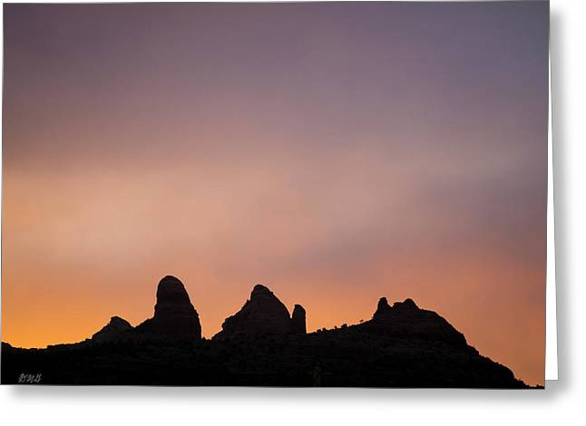 Greeting Card featuring the photograph Sedona Landscape Xxxv Color by David Gordon
