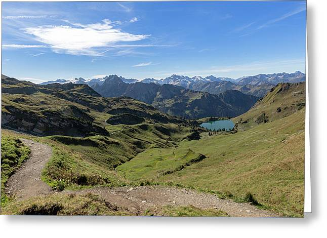 Greeting Card featuring the photograph Seealpsee, Allgaeu Alps by Andreas Levi