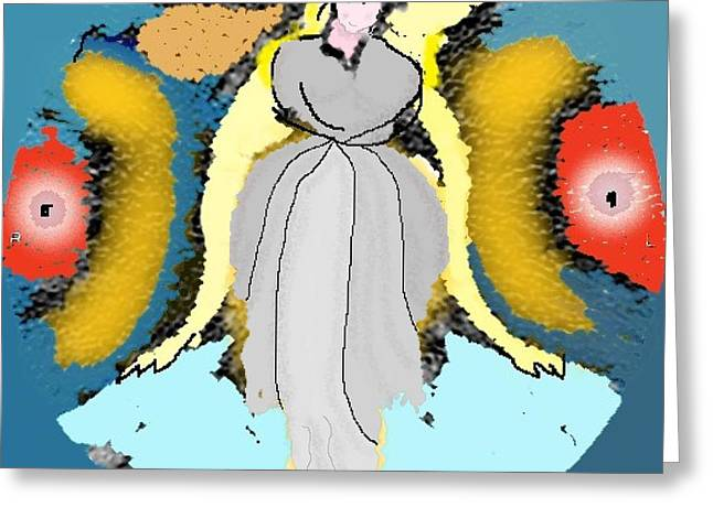 Greeting Card featuring the digital art Seeing Angels by James Fannin