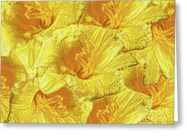 Selective Yellow Lilies Greeting Card