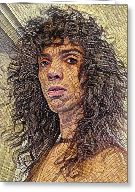 Self Portrait - The Shawn Mosaic - 80s Glam Rock Greeting Card
