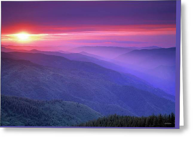 Selway Sunrise Greeting Card