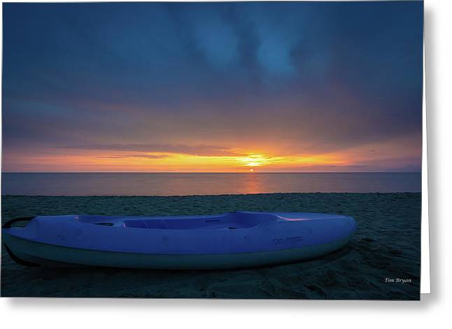 Greeting Card featuring the photograph Serata Blu Sul Mare by Tim Bryan