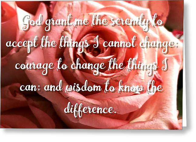 Serenity Prayer II Greeting Card