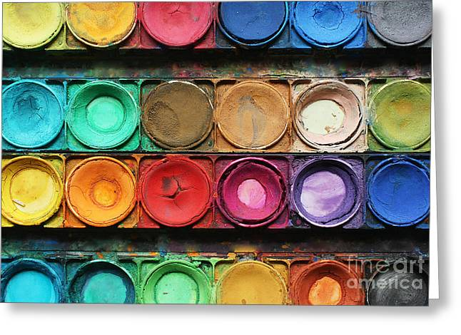 Set Of Color Paints Greeting Card