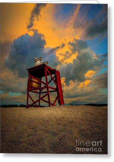 Setting In The Clouds Greeting Card