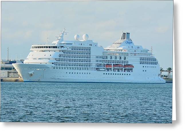 Greeting Card featuring the photograph Seven Seas Navigator At Port by Bradford Martin