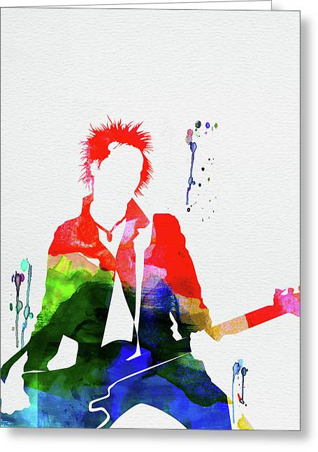 Sex Pistols Watercolor Greeting Card