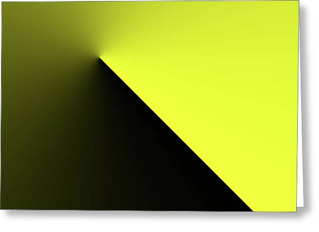 Greeting Card featuring the digital art Shades Of Yellow In Rotational Gradient by Bill Swartwout Fine Art Photography