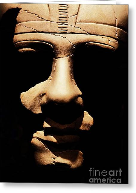 Greeting Card featuring the photograph Shadows Of Ancient Egypt by Sue Harper