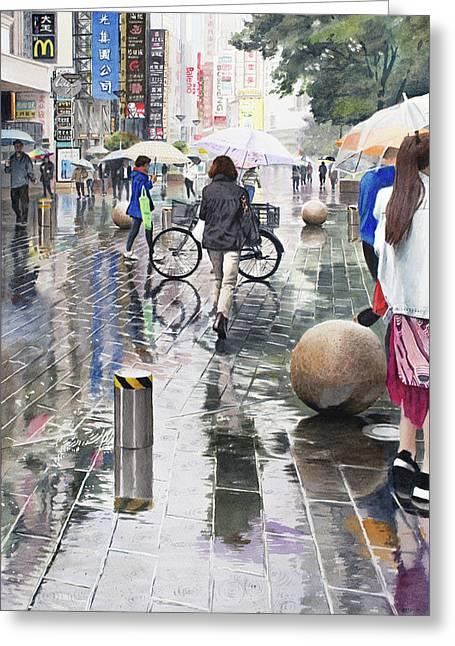 Shanghai Showers Greeting Card
