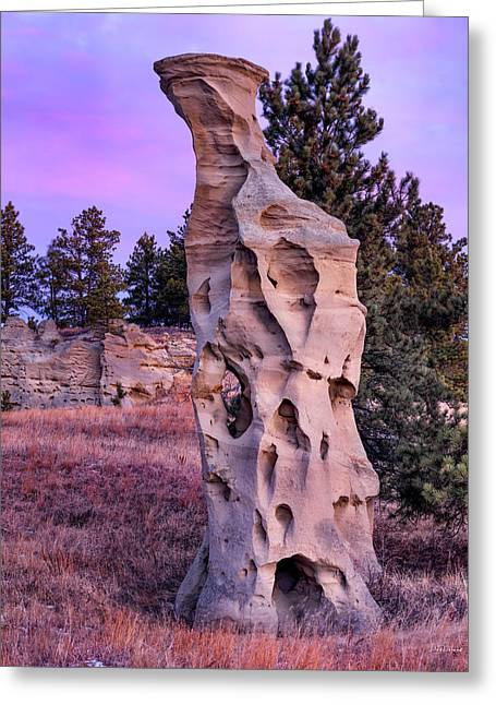 Shapes Of Time In Sandstone Greeting Card by Leland D Howard
