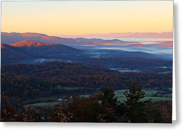 Greeting Card featuring the photograph Shenandoah Mountains by Candice Trimble