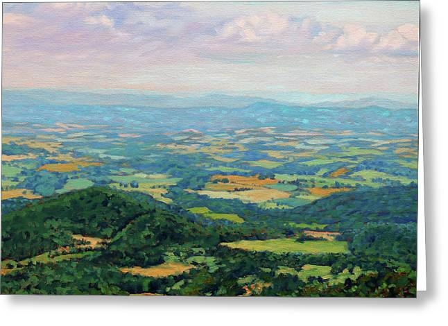 Shenandoah Summer - View From Skyline Drive Greeting Card
