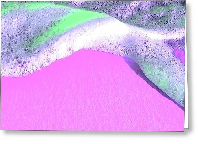 Greeting Card featuring the digital art  Sherbet Shores by Cindy Greenstein