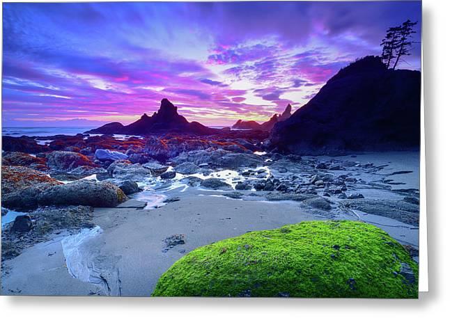 Shi Shi Beach Sunset Greeting Card