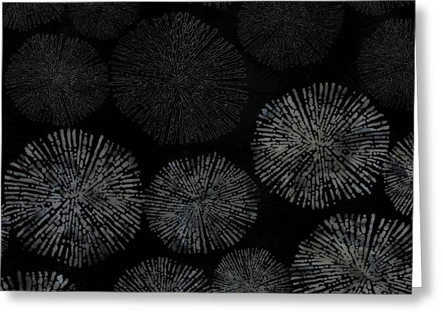 Shibori Sea Urchin Burst Pattern Greeting Card
