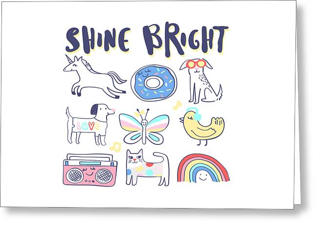 Shine Bright - Baby Room Nursery Art Poster Print Greeting Card
