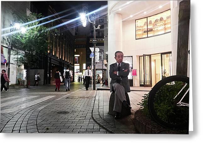 Shinjuku Man Greeting Card