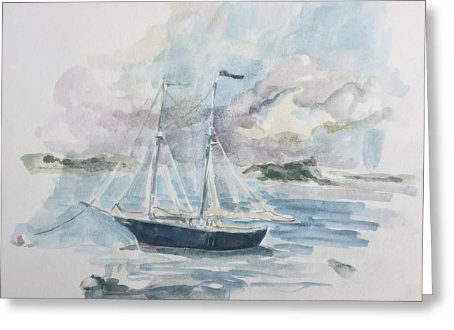 Ship Sketch Greeting Card
