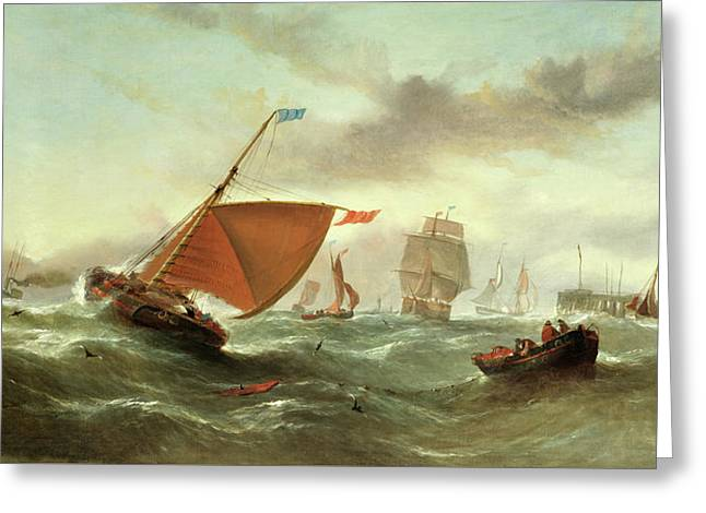 Shipping In A Squall Greeting Card