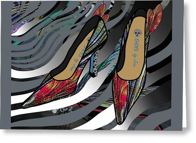 Shoes By Joan - Dragon Fly Wing Pumps Greeting Card
