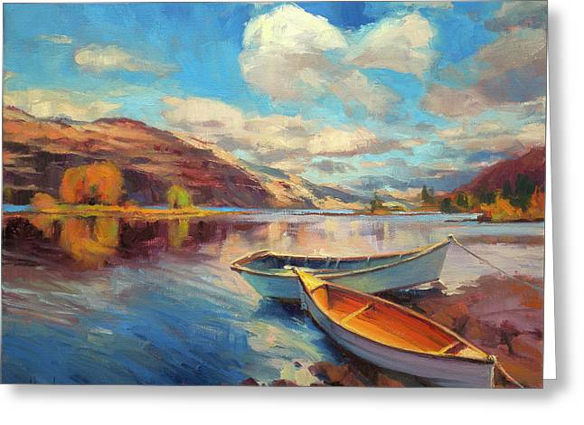 Greeting Card featuring the painting Shore Leave by Steve Henderson