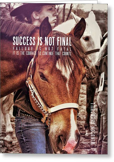Showmanship Quote Greeting Card