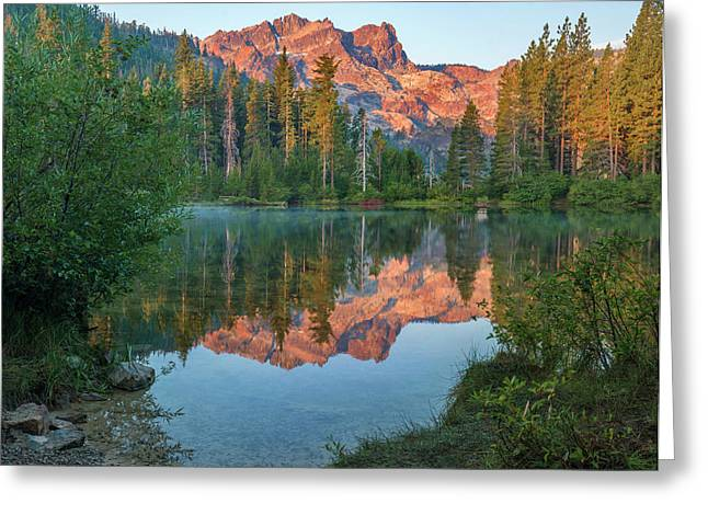 Sierra Buttes From Sand Pond, Tahoe Greeting Card