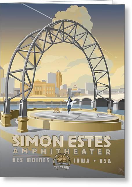 Simon Estes Amphitheater Greeting Card