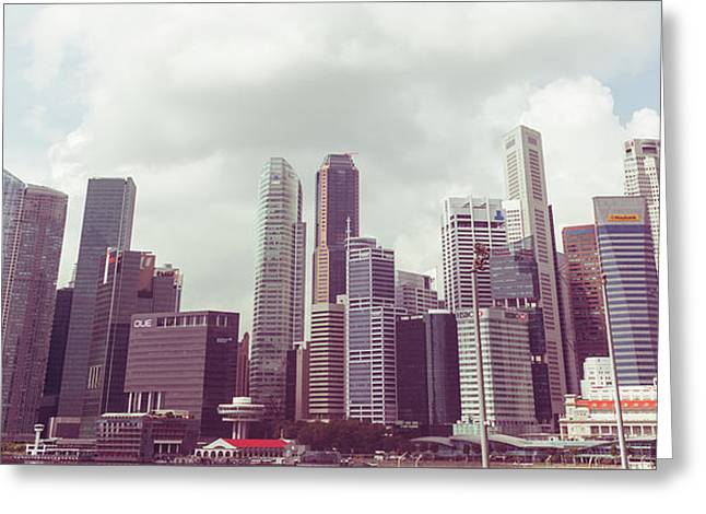 Singapore Cityscape The Second Greeting Card