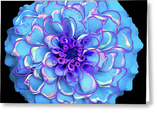 Greeting Card featuring the digital art Singing The Blues by Cindy Greenstein
